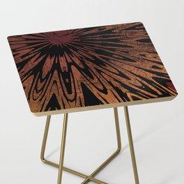 Native Tapestry in Burnt Umber Side Table