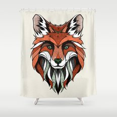 Fox // Colored Shower Curtain