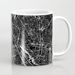 Paris Black Map Coffee Mug