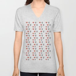 symbol of woman with a heart 5 Unisex V-Neck