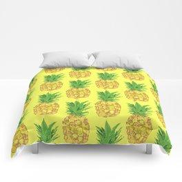 Pineapple Pop Yellow Comforters