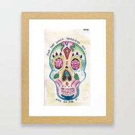 Go for it Framed Art Print