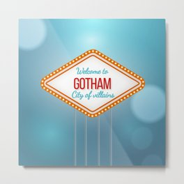 Welcome to Gotham City of Villains Metal Print