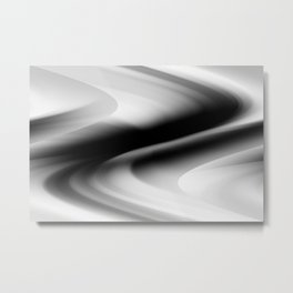DREAM PATH (Black, Grays & White) Metal Print