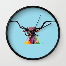 Hipster Longhorn Wall Clock