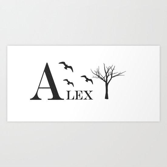 Alex Personalized Mug Art Print
