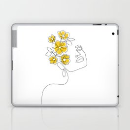 Mustard Bloom Girl Laptop & iPad Skin