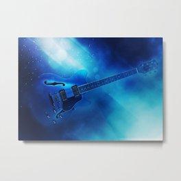 Guitar Blues Metal Print