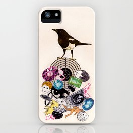 Magpie collector collage iPhone Case