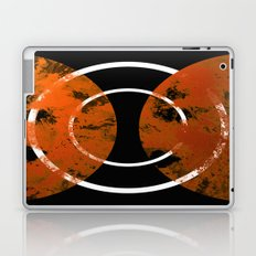 Resonance - Abstract in gold, black and white Laptop & iPad Skin