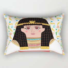 Queen Cleopatra Rectangular Pillow