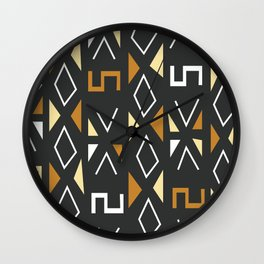 African Tribal Pattern No. 12 Wall Clock