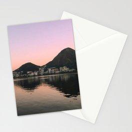 Lagoa Rio sunset Stationery Cards