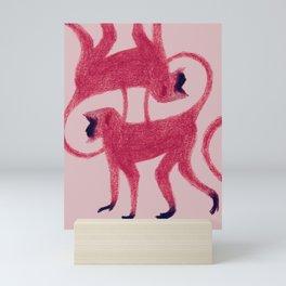 Red Monkeys Mini Art Print