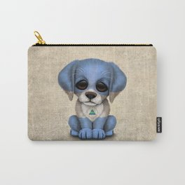 Cute Puppy Dog with flag of Nicaragua Carry-All Pouch