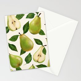 Green Pears Stationery Cards
