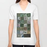 maps V-neck T-shirts featuring Google Maps Alphabet by Rhett