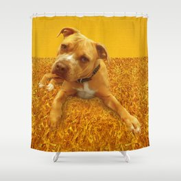 CHENiLLE (shelter pup) Shower Curtain