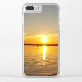 Sunset Tour Clear iPhone Case