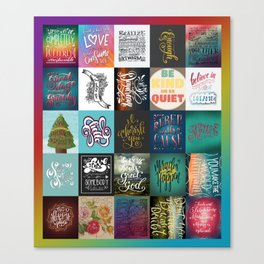Hand Lettering Canvas Print