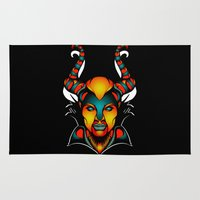 maleficent Area & Throw Rugs featuring Maleficent by Quakerninja