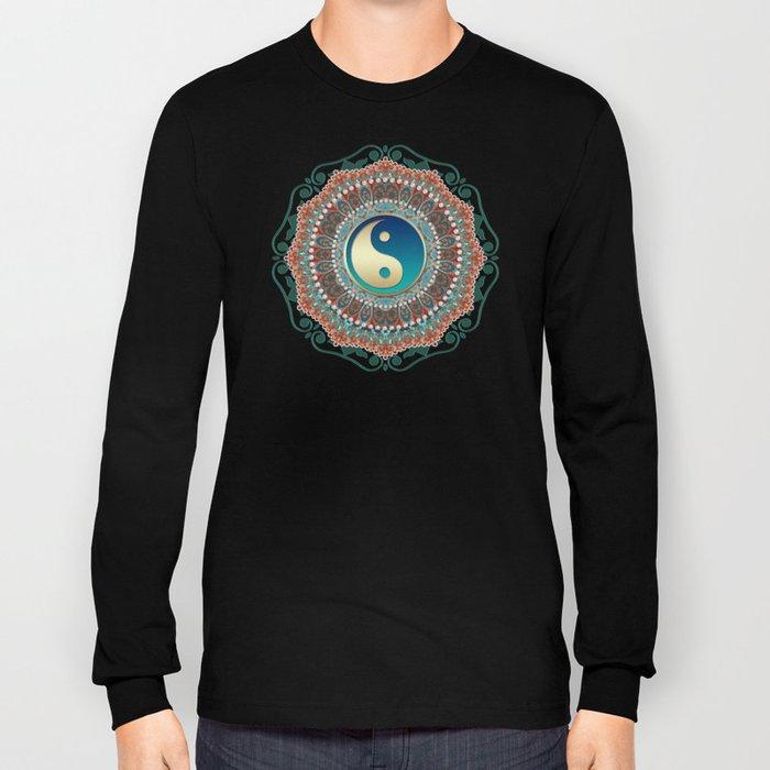 Bohemian Batik Yin Yang Long Sleeve T-shirt