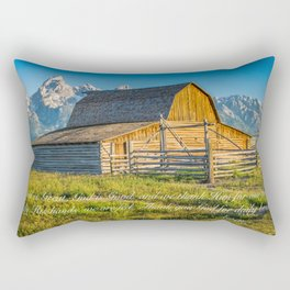 Lord's Prayer Barn Print Rectangular Pillow