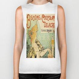 Vintage poster - Biscuits and Chocolat Delacre Biker Tank