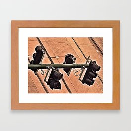 red light, green light Framed Art Print