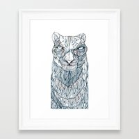 snow leopard Framed Art Prints featuring snow leopard by Eric Tiedt