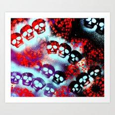 Mint Tri-Skull Art Print