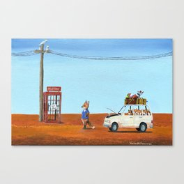 The Out of Service Phone Box Canvas Print