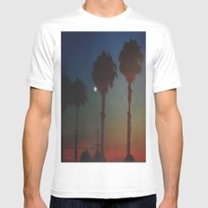 Moon Glow White MEDIUM Mens Fitted Tee