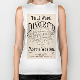 They Were Divorced - Vintage Sheet Music Cover Biker Tank