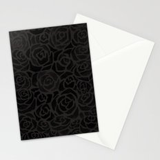 Cluster of Black Roses Stationery Cards
