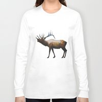 rocky Long Sleeve T-shirts featuring The Rocky Mountain Elk by Davies Babies