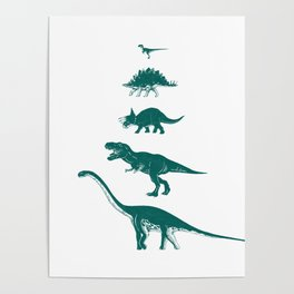 All the Dinosaurs T-Rex Illustration Poster