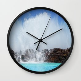 spray puerto de la cruz tenerife canary islands Wall Clock