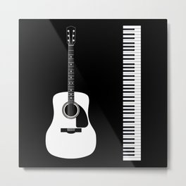 Guitar Piano Duo Metal Print