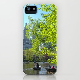 Rowing at Central Park, NYC iPhone Case