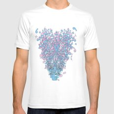 Corazon White SMALL Mens Fitted Tee