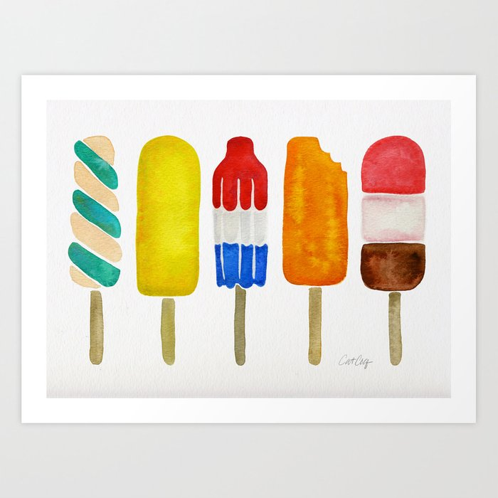 Popsicle Collection Art Print