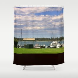 Town Centre - Metung - Australia Shower Curtain