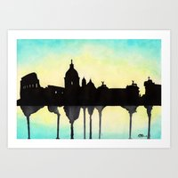 rome Art Prints featuring Rome by Paint the Moment