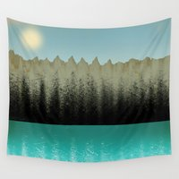 cabin Wall Tapestries featuring Cabin View by Tammy Kushnir