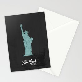 """This is New York for me. """"She"""" Stationery Cards"""