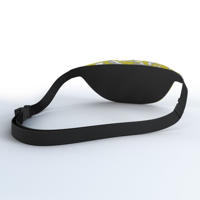 origami animal ditsy chartreuse Fanny Pack