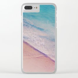 Turquoise - Aerial Beach Clear iPhone Case