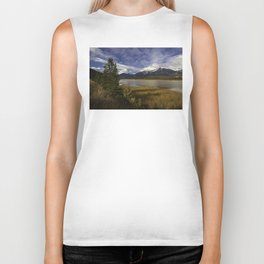 Walking with her head in the clouds Biker Tank