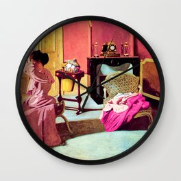 Felix Vallotton -  Woman being capped (new color editing) Wall Clock